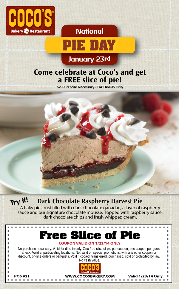 Cocos pies coupons