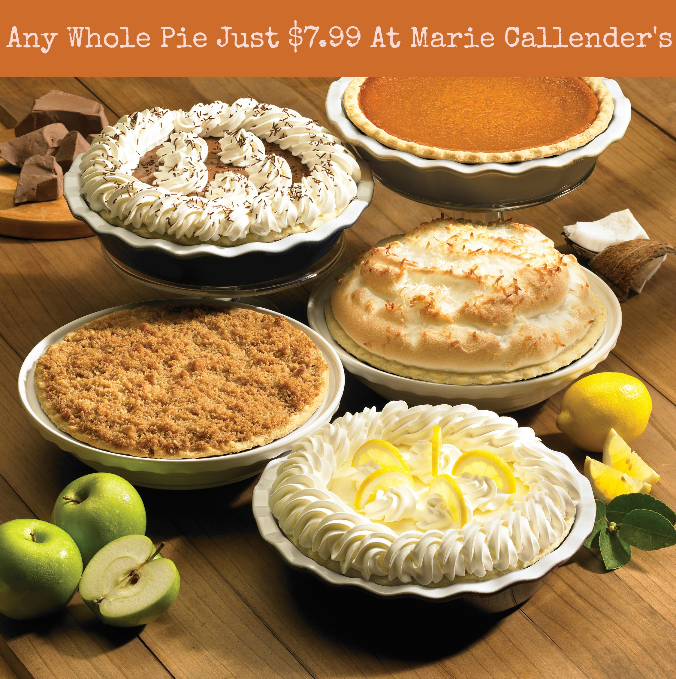Any Whole Pie Only $7.99 At Marie Callenders + a Giveaway - EatDrinkOC