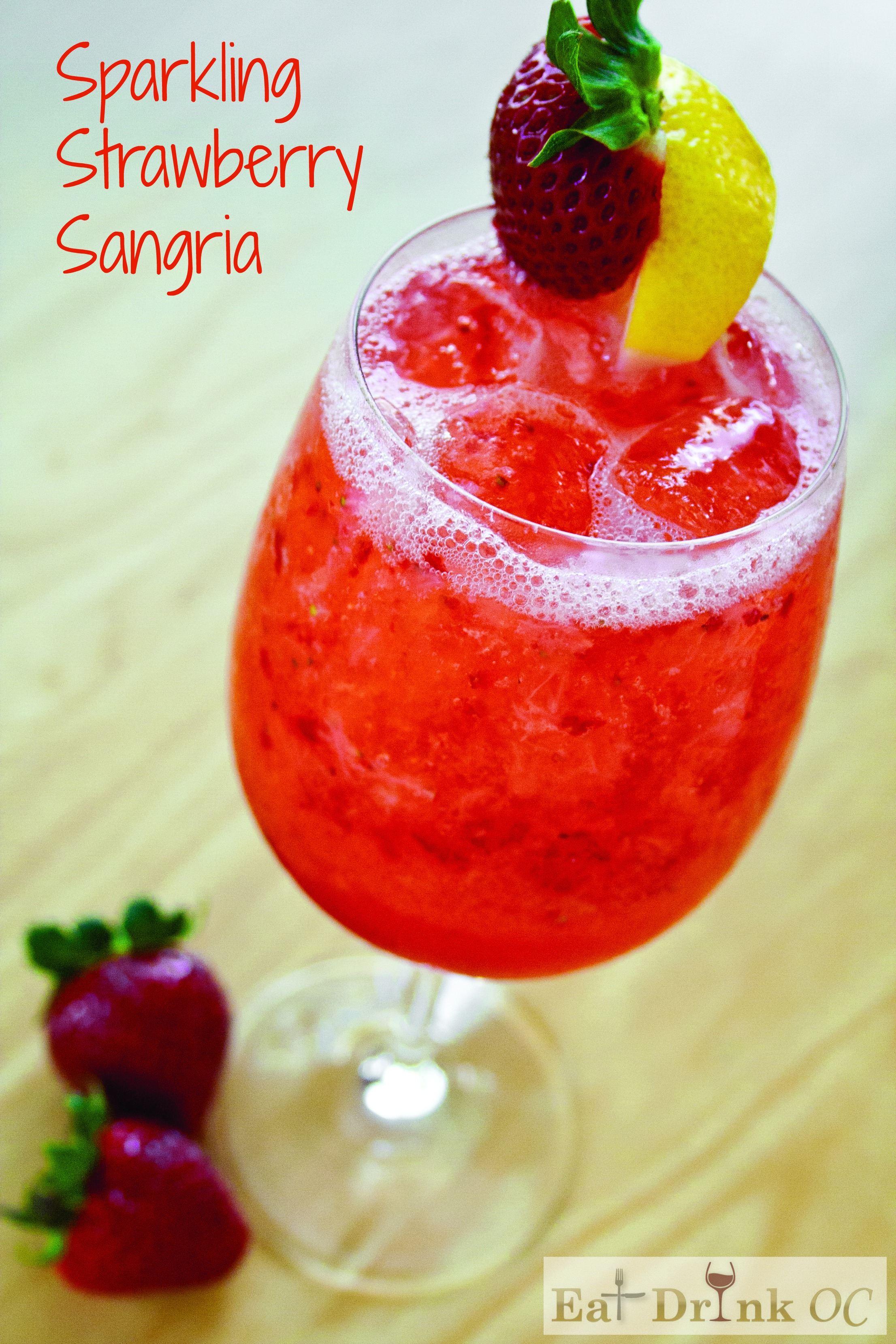 Benihana Sparkling Strawberry Sangria Recipe - EatDrinkOC