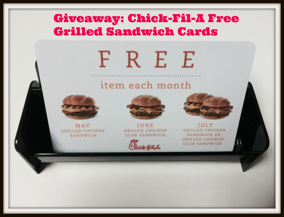 chick fil a giveaway giveaway chick fil a free grilled sandwich cards 4276