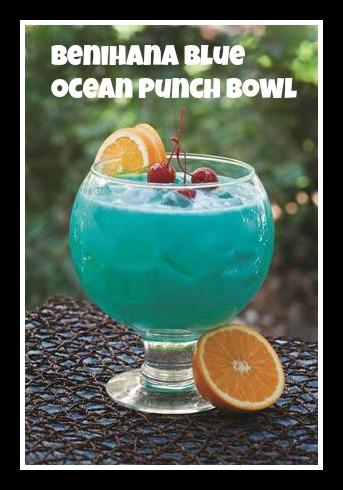 Benihana Blue Ocean Punch Bowl Recipe