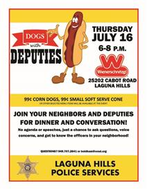 Dogs with Deputies in Laguna Hills